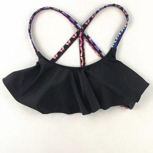 VICTORIA SECRET PINK small Black Bikini top EUC